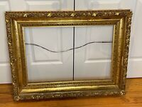 "19th century large ornate Carved Gilt wood Frame c1870 Hudson River 20"" by 30"