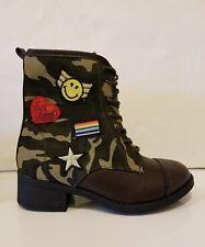 Girl' Mia Kids Petticoat Kids Camo  Boots Girls  Low Heel, Size 13
