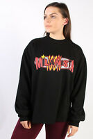 Vintage Retro Brands Milanista Round Sweatshirt Sport Wear Top Black S - SW1761