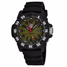 c40315f7b9a Luminox Men s Master Carbon Seal Khaki Green Dial Strap Quartz Watch XS.3813
