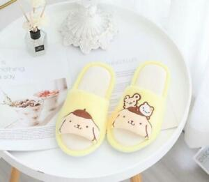 Pom Pom Purin plush indoor slippers shoes Open-toed sandals 2021