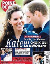 Point De Vue magazine Kate Middleton Prince William Princess Diana wedding