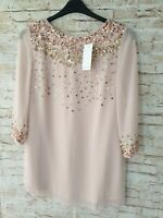 Joanna Hope Pink Sequin Evening Wear Blouse Size 10