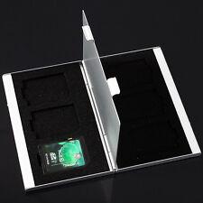 SD Speicherkarten Etui Tasche Case Box Hülle Speicher für 6 Karten Alu Cards NEU