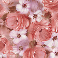 TULLE & PETALS Floral Collage by Fabri-Quilt 100% cotton fabric by the yard