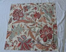 Pottery Barn Lolita Jacobean Butterfly Floral Red Teal Euro Pillow Sham Cotton