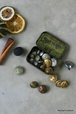 More details for vintage tin of assorted railway buttons