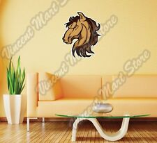 "Mustang Stallion Horse Head Cartoon Wall Sticker Room Interior Decor 20""X25"""