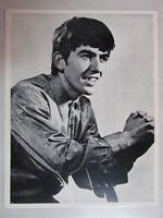GEORGE HARRISON BLACK & WHITE 8 1/2 X 11 REPRO PHOTO THE BEATLES 60's EARLY 60's