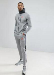 Nike Mens Tracksuit Fleece Hoodie Joggers Grey S M L XL Full Tracksuit
