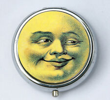 Smiling Full Moon PILL CASE pillbox pill holder retro hipster