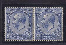 1912-24 KGV sg371zd 2 1/2 D BLU MONTATO MINT COPPIA ROTTO Dandy rotolo varietà