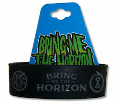 "BRING ME THE HORIZON ""UNHOLY SYMBOL"" BLACK SILICONE WRISTBAND NEW OFFICIAL BMTH"