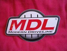 MDL Modern Driveline Sticker Decal Hot Rods Classic Car