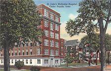 Iowa postcard Cedar Rapids, St. Luke's Methodist Hospital linen