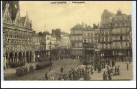 Saint Quentin France CPA Postkarte ~1914/18 Soldaten Parade 1. Weltkrieg Guerre