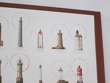Tableau phares Bretagne pointe bretonne cadre dessin marin déco marine Neuf