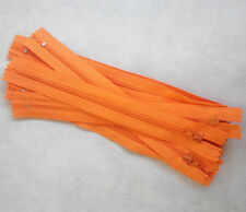 10pcs  Tangerine  Nylon Coil Zippers Tailor Sewer Craft 9 Inch Crafter's FGDQRS