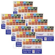 100Kits Dental GAPADENT Gutta Percha Points 0.06 15-40# Color Coded CE 60Pcs/Kit