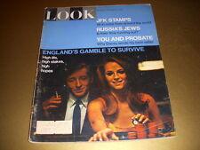 Vintage LOOK Magazine, November 29, 1966, JFK POSTAGE STAMPS, RUSSIA'S JEWS!