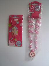 BARBIE Doll Girl's Dog Tag Style Necklace & 2 piece Set w/Bracelet Jewelry Gift