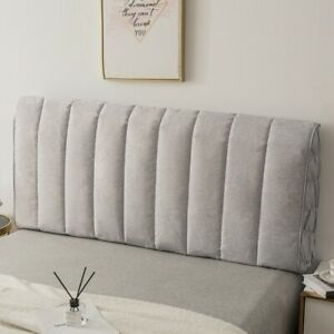 Headboard Cover Stretchy Bedside Cover Head Board Slipcover Soft Linen Solid