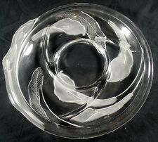Sectional Tray Serving Dish Glass Calla Lilies Crystal Clear Studios 14 in