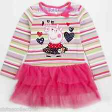 AUS Seller NEW with tags girls long sleeve tunic top pink tutu Peppa Pig size 3