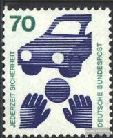 BRD (BR.Deutschland) 773Rd mit blauer Zählnummer (kompl.Ausg.) postfrisch 1973 U