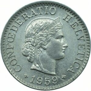 SWITZERLAND / 1930-1979 / 5 RAPPEN COIN / CHOOSE YOUR YEAR / COLLECTIBLE COIN