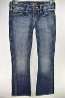 Silver Jeans Twisted Womens Bootcut Jeans Size 25x31 Blue Meas. 29x31 Boot Cut