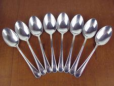 """8 x Teaspoons 5 5/8"""" Birks Regency Plate York vintage silver silverplate"""