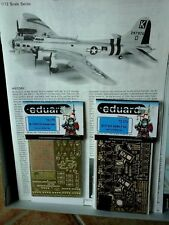 B17 G FLYING FORTRESS PART III 1/72 SCALE HASEGAWA MODEL+N.2 PHOTOETCHED PARTS