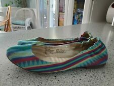 Women's shoes Mossimo Ballet Flats Slippers Sz 8 Striped Aztec Womens Shoes