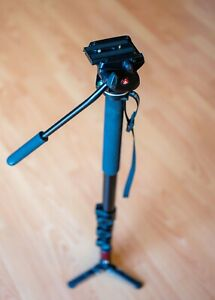 Manfrotto 561BHDV-1 Fluid Video Monopod with 561BHDV Head 200cm Max Height