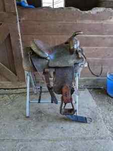 """15.5"""" Tex Tan Western Saddle"""
