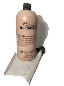 Philosophy Pink Chocolate Macaroon Shower Gel & Bubble Bath 32 oz SEALED W /PUMP