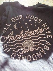 Architects t shirt rare xl black parkway drive metal
