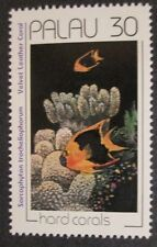 1991 Scott 262 Palau Velvet Leather Hard Coral, new unused 30 cent stamp at FV