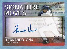 2004 Topps Traded & Rookies Baseball ~ Fernando Vina ~ Tigers ~ Autograph #SM-FV