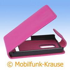 Flip Case Etui Handytasche Tasche Hülle f. Nokia Asha 210 (Pink)