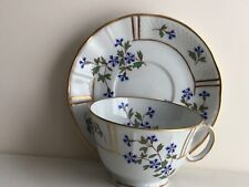 B & C Bernardaud Limoges France BLEUETS Tea Cup and Saucer