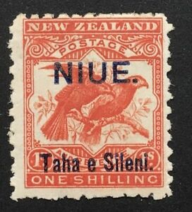 Niue Edward VII 1903 1/- bright red m/m SG 16 (ct £42)