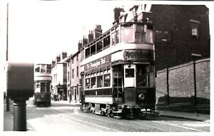Original real photograph Tram Birmingham 740 733 tramcar circa 1940