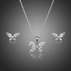 Gift For Sister BUTTERFLY MARQUISE CUT CZ JEWELRY SET KHAISTA