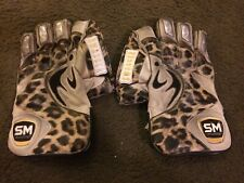 """Preowned Sm Pintu """"Swagger"""" Men's Cricket Wicket Keeping Gloves, Leopard Print"""
