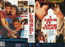 I LIKE IT LIKE THAT -VHS -PAL -NEW-Never played!!-VERY RARE!-Original Oz release