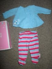 Authentic AMERICAN GIRL BITTY BABY DOLL RUFFLED PENGUIN PAJAMAS PJs CLOTHES NEW