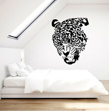 Vinyl Wall Decal Leopard Head Big Wild Cat Predator Fangs Stickers (2866ig)