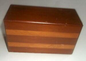 Vtg Wood Bottoms Up Cigarette Chest Box Shaw Barton Reiner Bros. & Instructions